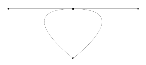 First Bezier curve complete path